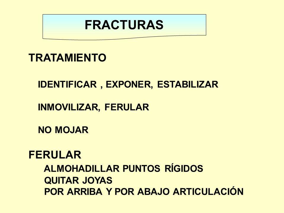 FRACTURAS TRATAMIENTO FERULAR ALMOHADILLAR PUNTOS RÍGIDOS