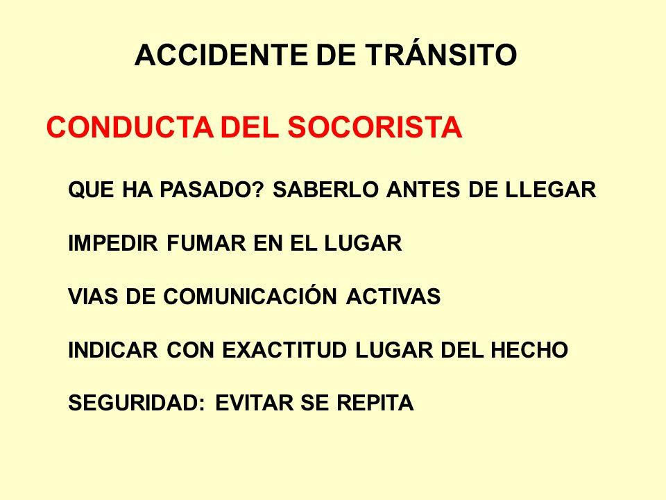 CONDUCTA DEL SOCORISTA