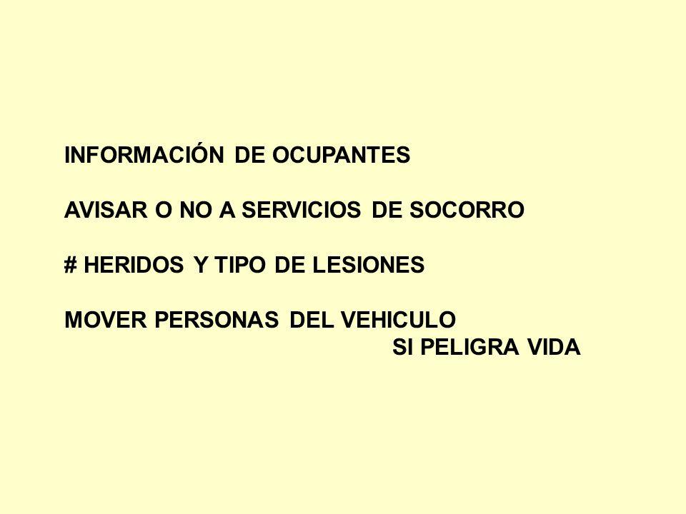 INFORMACIÓN DE OCUPANTES