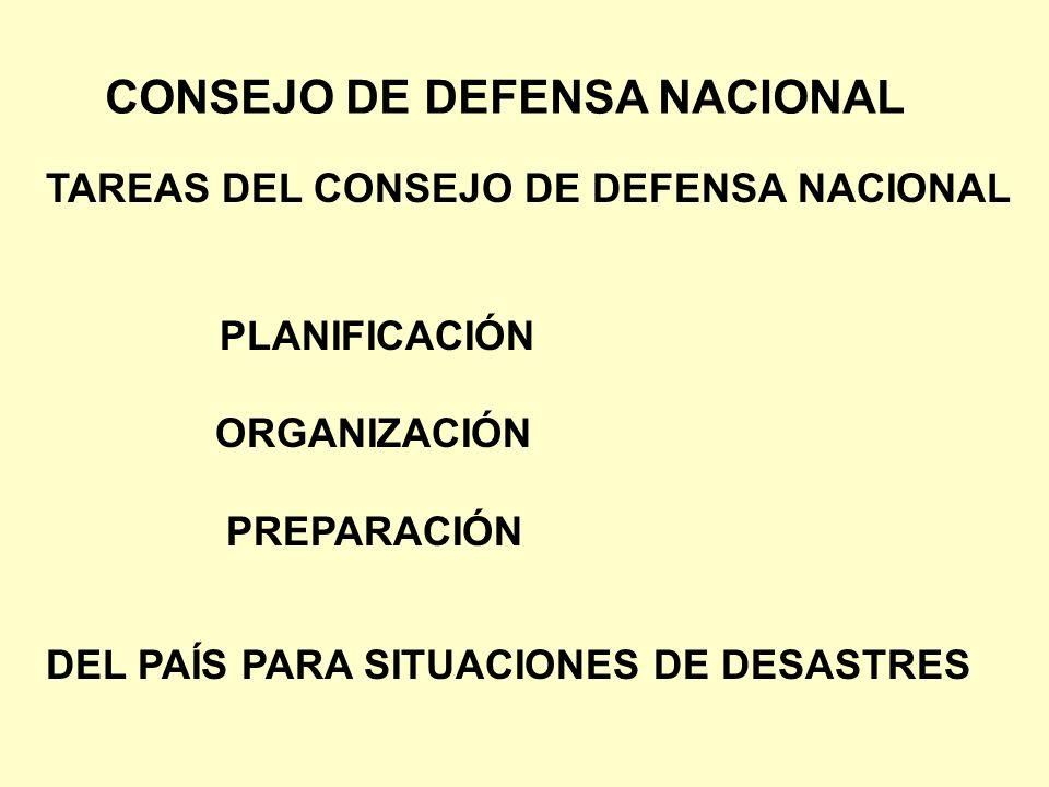 CONSEJO DE DEFENSA NACIONAL