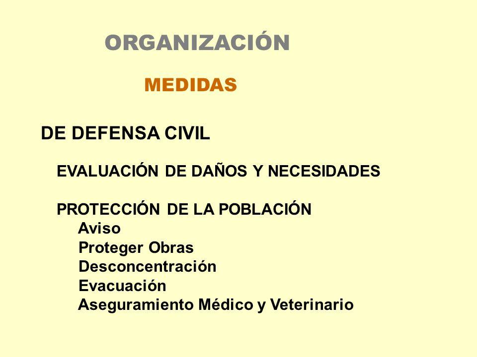 ORGANIZACIÓN MEDIDAS DE DEFENSA CIVIL