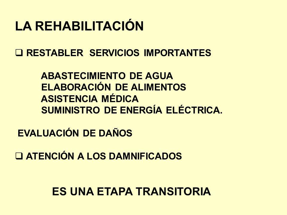 LA REHABILITACIÓN RESTABLER SERVICIOS IMPORTANTES