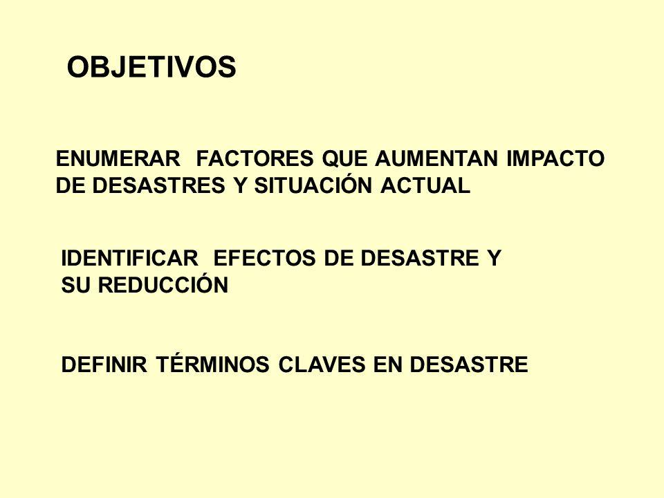 OBJETIVOS ENUMERAR FACTORES QUE AUMENTAN IMPACTO