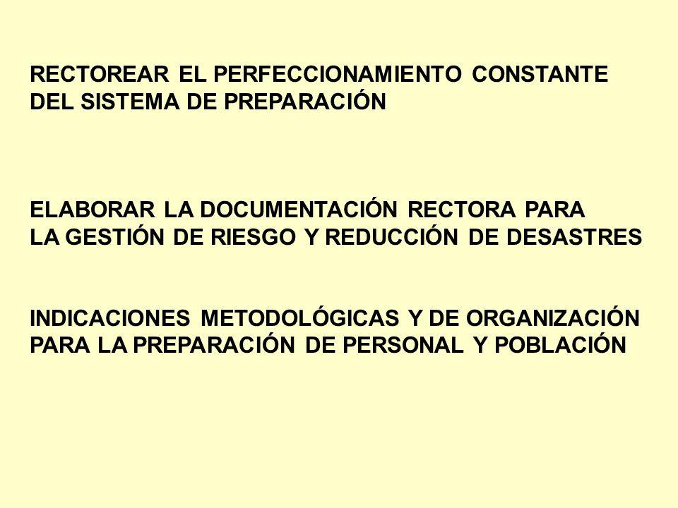 RECTOREAR EL PERFECCIONAMIENTO CONSTANTE