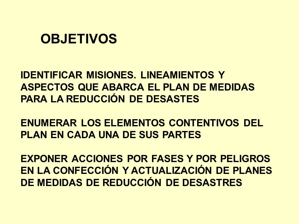 OBJETIVOS IDENTIFICAR MISIONES. LINEAMIENTOS Y