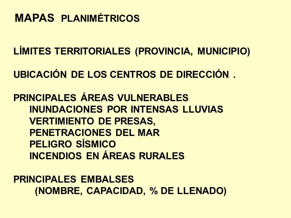 MAPAS PLANIMÉTRICOS LÍMITES TERRITORIALES (PROVINCIA, MUNICIPIO)