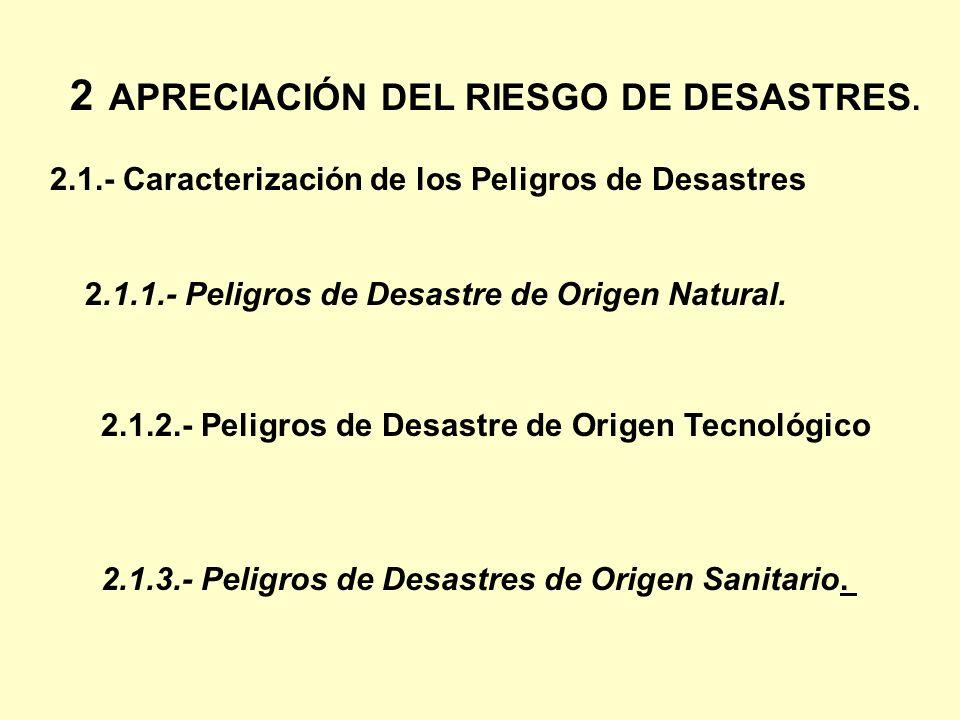 2 APRECIACIÓN DEL RIESGO DE DESASTRES.