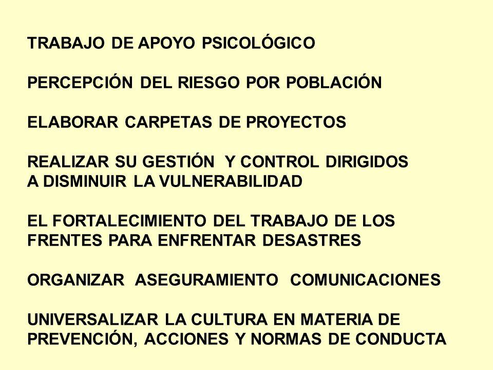 TRABAJO DE APOYO PSICOLÓGICO