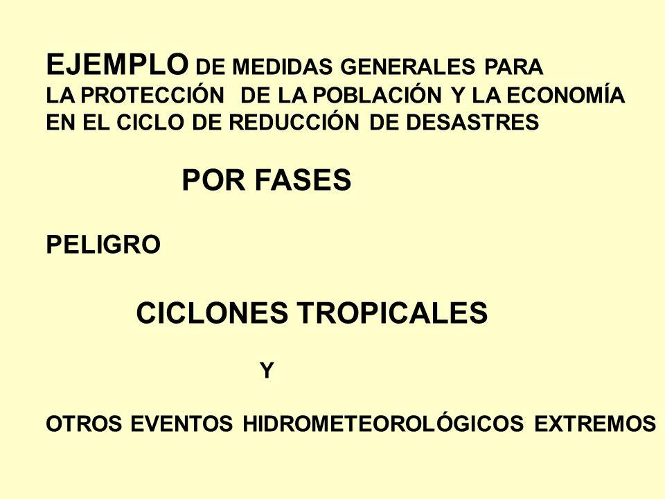 EJEMPLO DE MEDIDAS GENERALES PARA