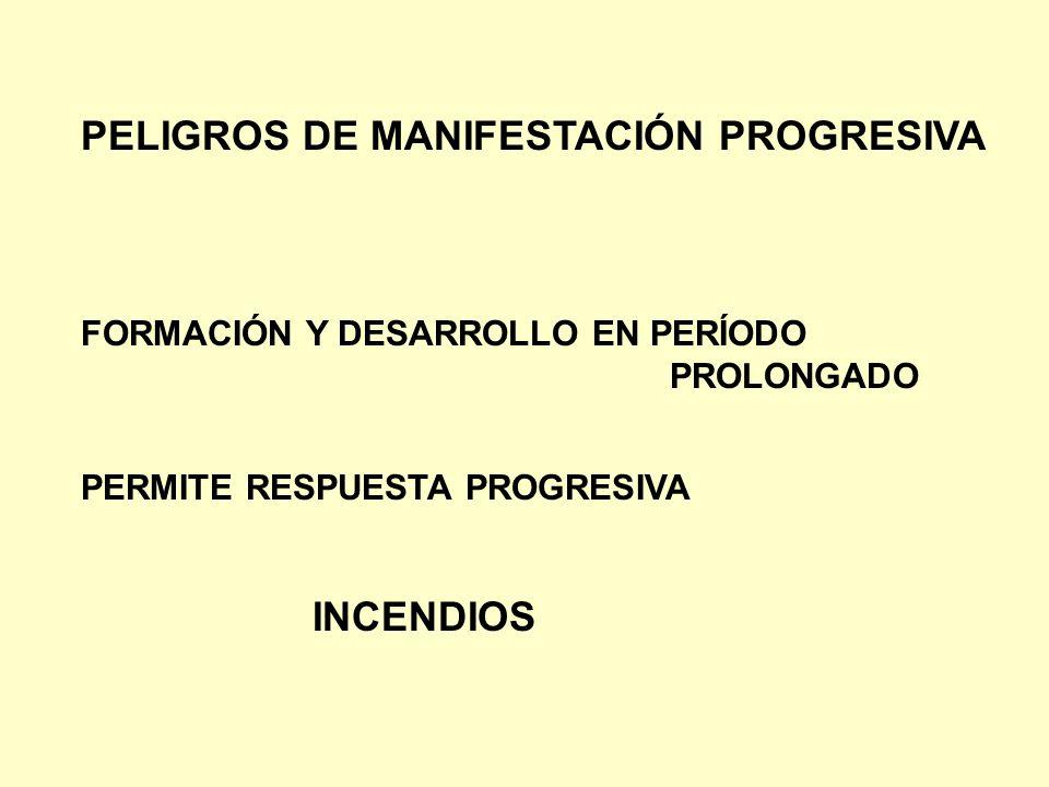 PELIGROS DE MANIFESTACIÓN PROGRESIVA