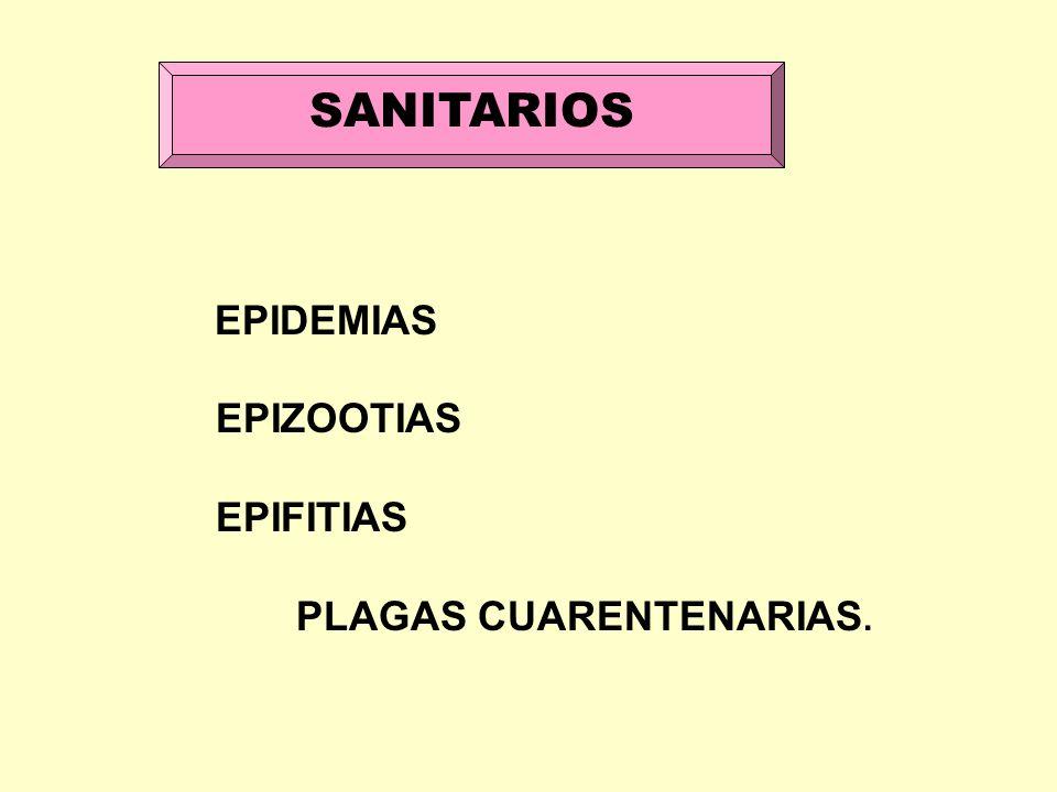SANITARIOS EPIDEMIAS EPIZOOTIAS EPIFITIAS PLAGAS CUARENTENARIAS.