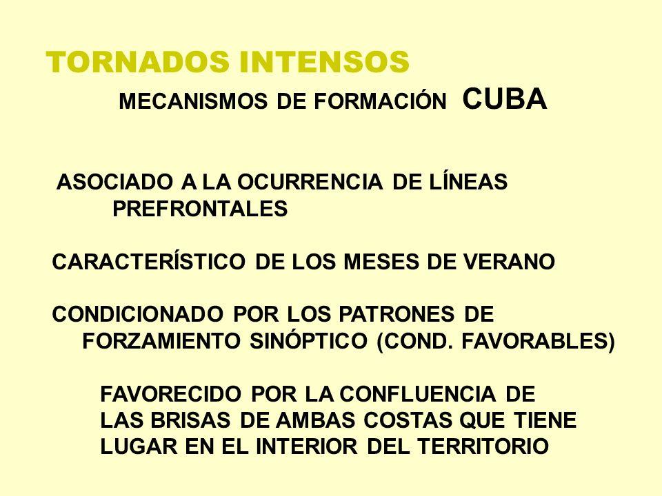 TORNADOS INTENSOS MECANISMOS DE FORMACIÓN CUBA