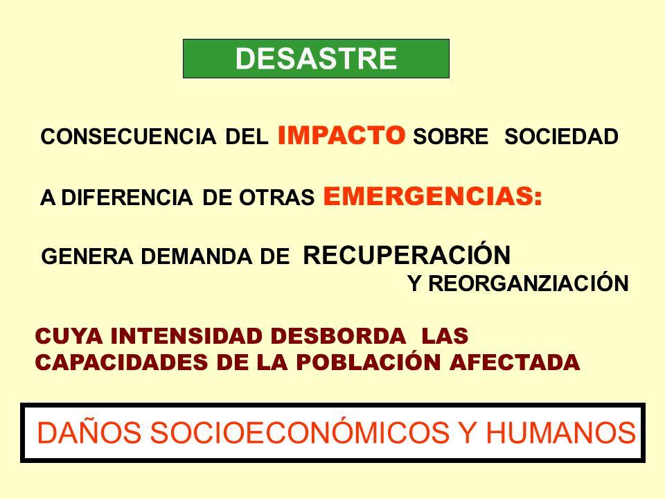 DAÑOS SOCIOECONÓMICOS Y HUMANOS