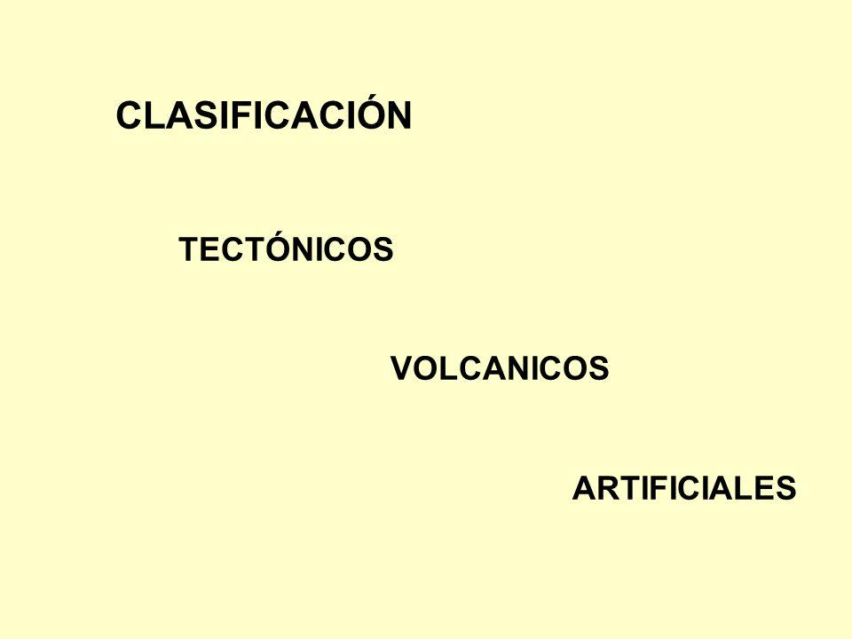 CLASIFICACIÓN TECTÓNICOS VOLCANICOS ARTIFICIALES