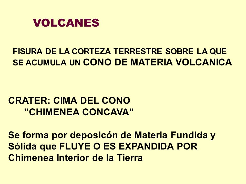 VOLCANES CRATER: CIMA DEL CONO CHIMENEA CONCAVA