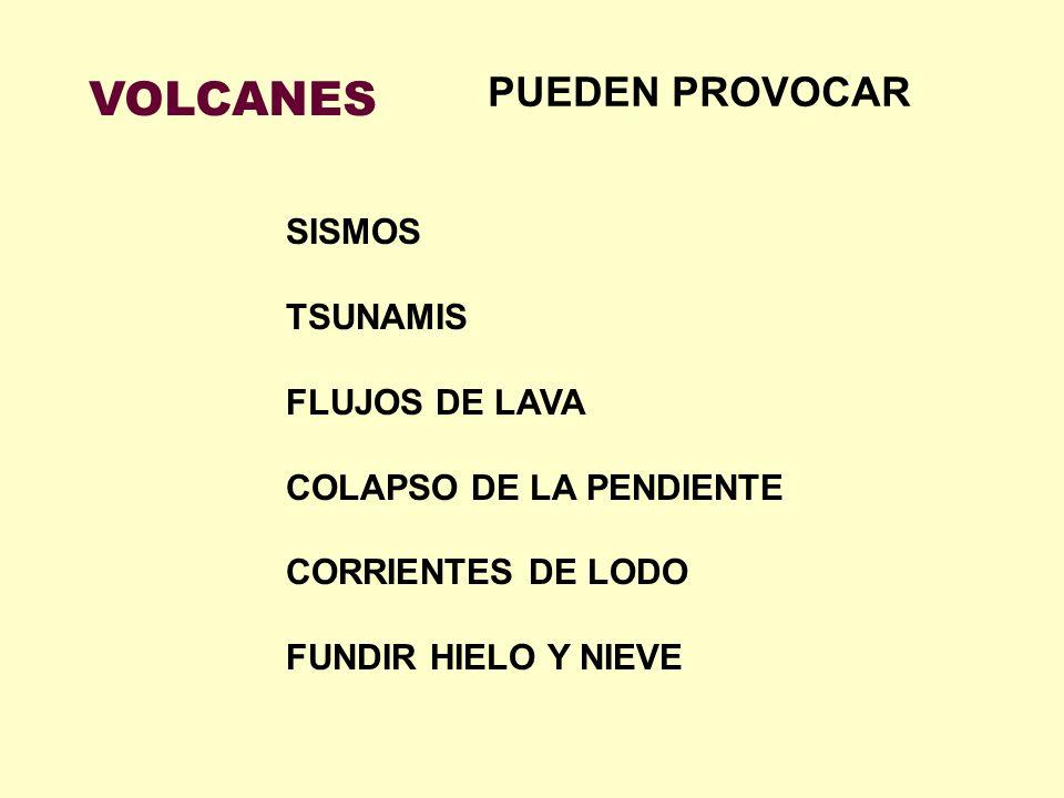 VOLCANES PUEDEN PROVOCAR SISMOS TSUNAMIS FLUJOS DE LAVA