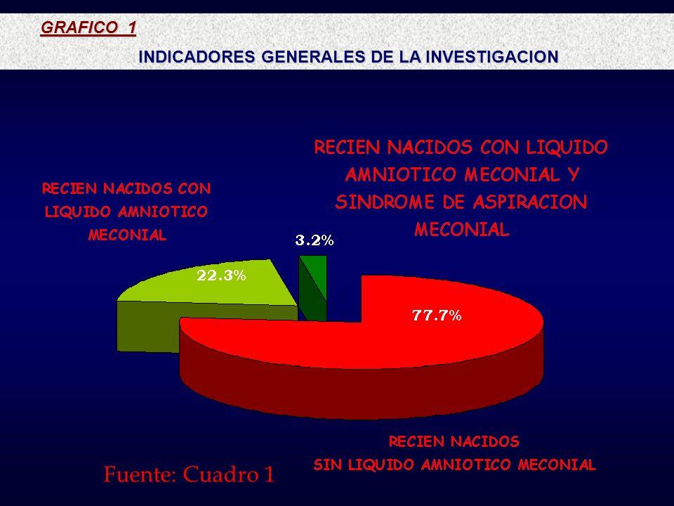 INDICADORES GENERALES DE LA INVESTIGACION