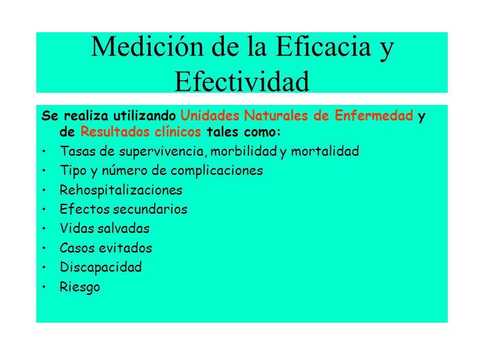 Medición de la Eficacia y Efectividad