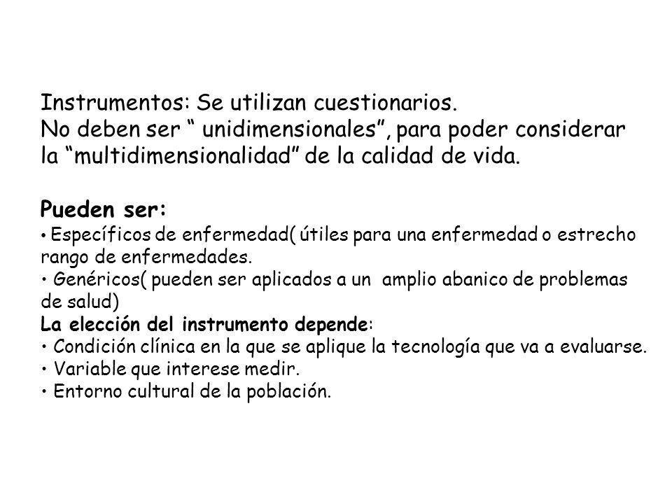 Instrumentos: Se utilizan cuestionarios.