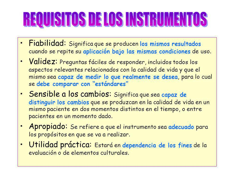 REQUISITOS DE LOS INSTRUMENTOS