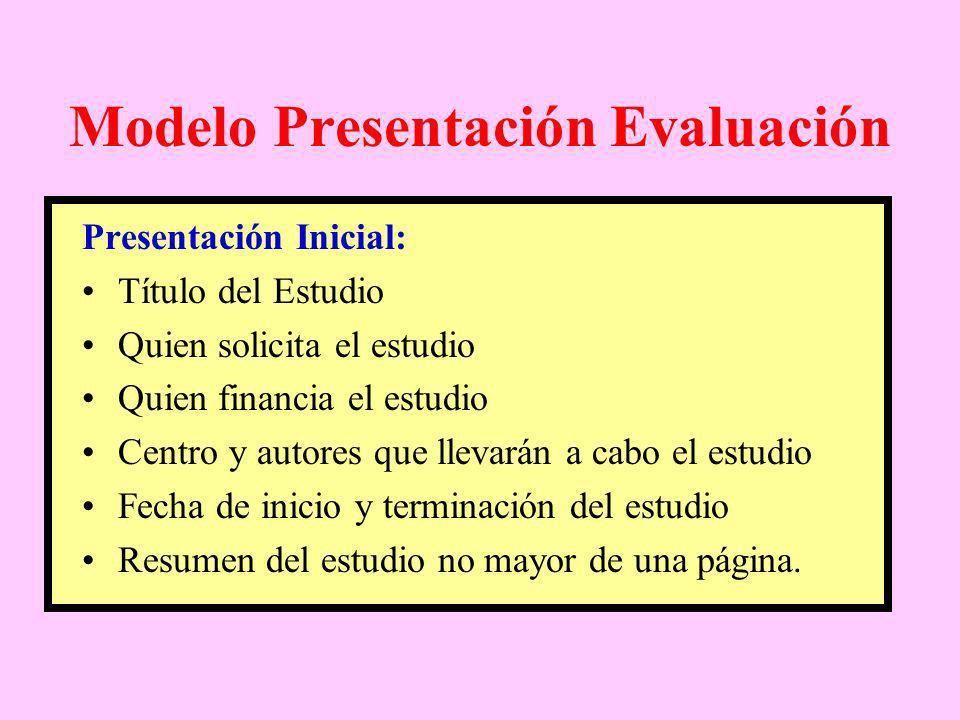 Modelo Presentación Evaluación