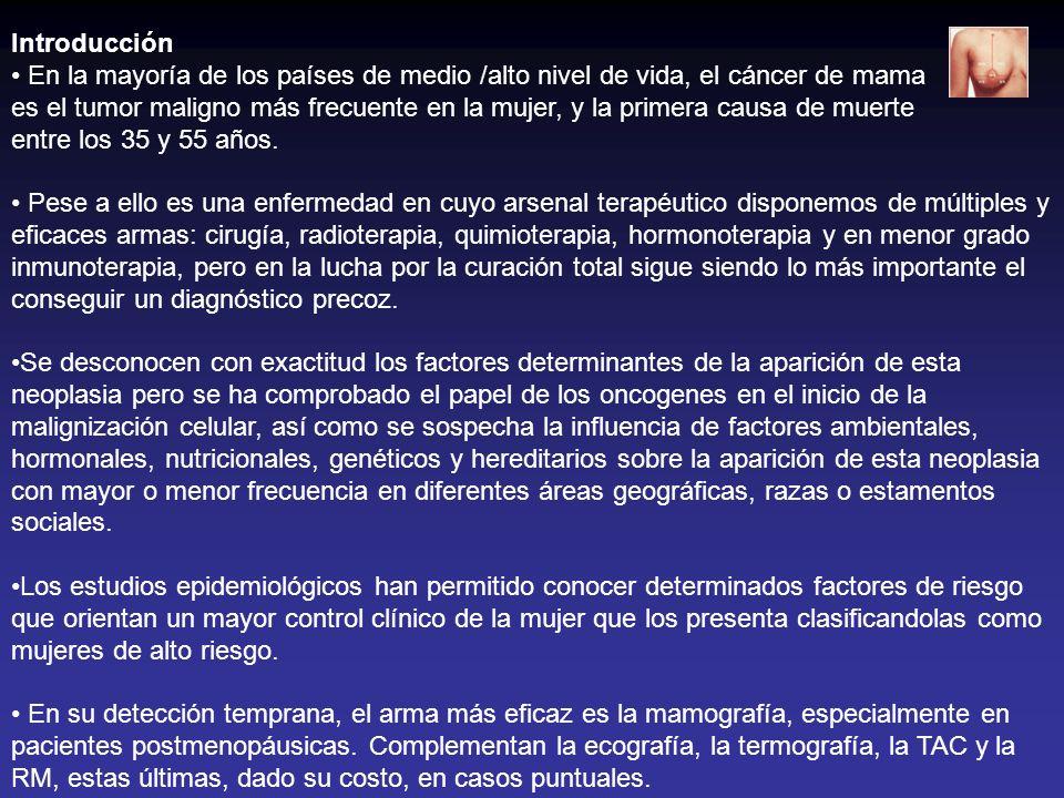 Introducción En la mayoría de los países de medio /alto nivel de vida, el cáncer de mama.