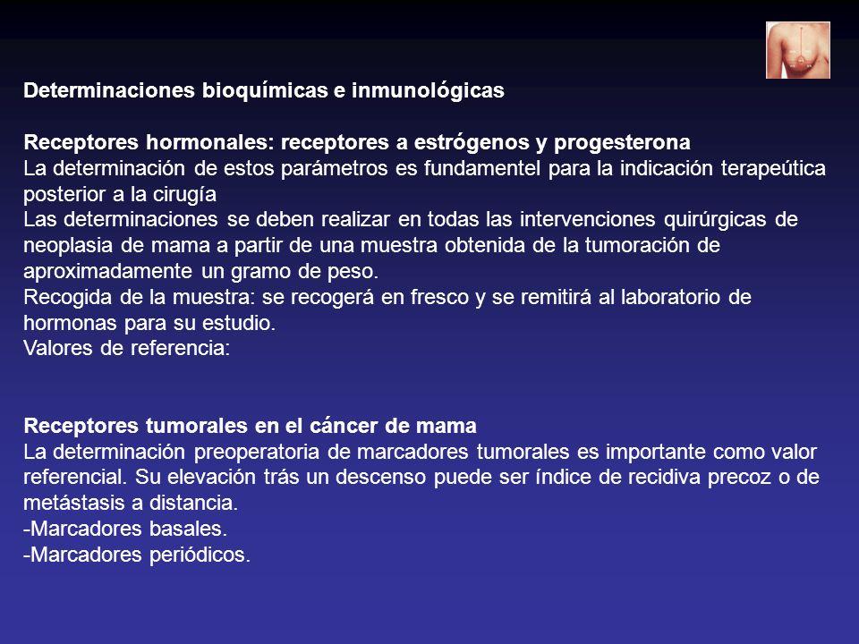 Determinaciones bioquímicas e inmunológicas