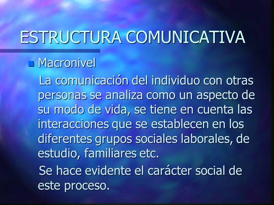 ESTRUCTURA COMUNICATIVA