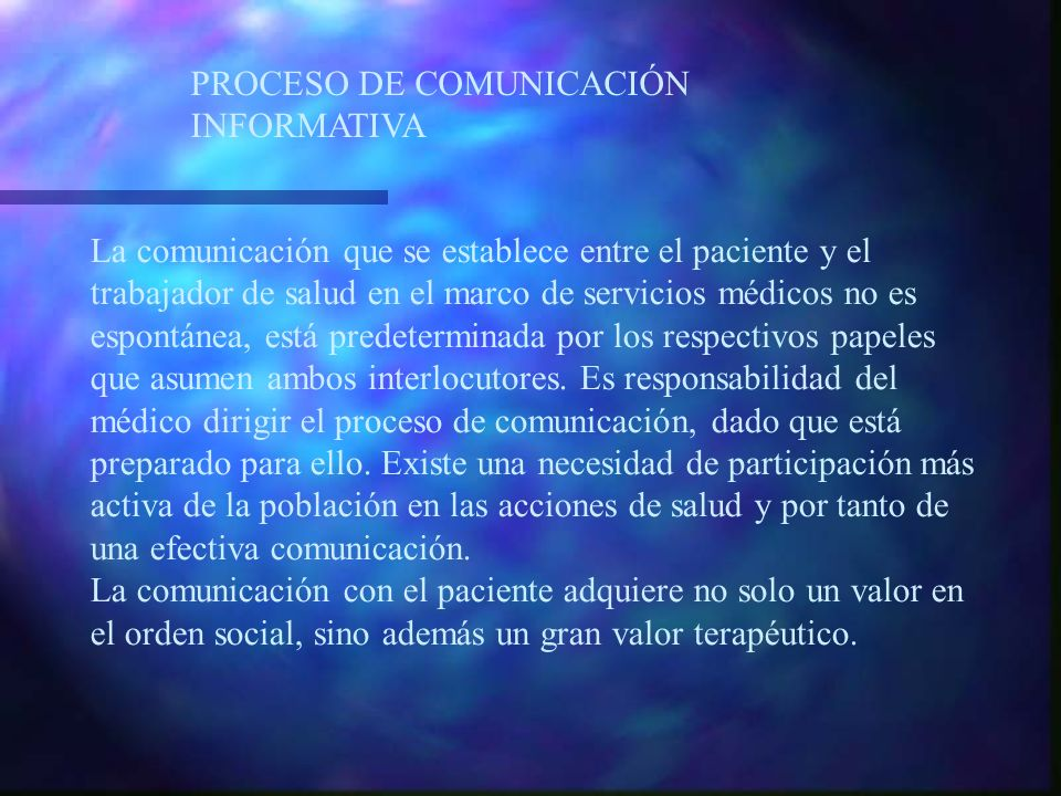 PROCESO DE COMUNICACIÓN INFORMATIVA