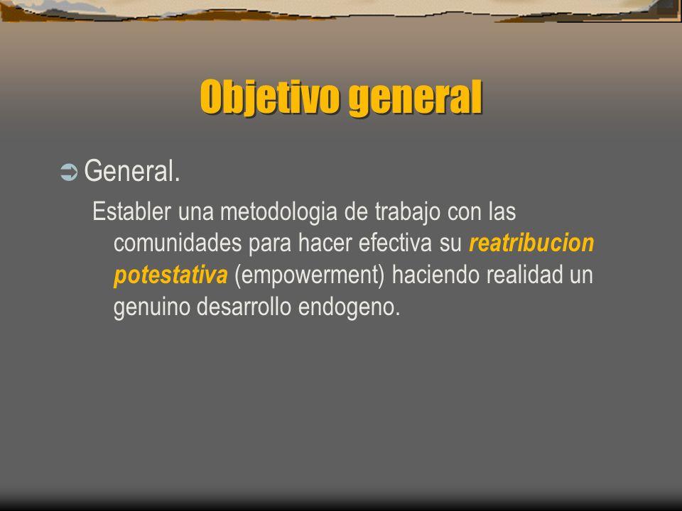 Objetivo general General.