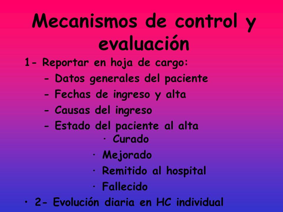 Mecanismos de control y evaluación