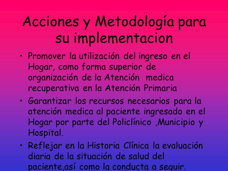Acciones y Metodología para su implementacion