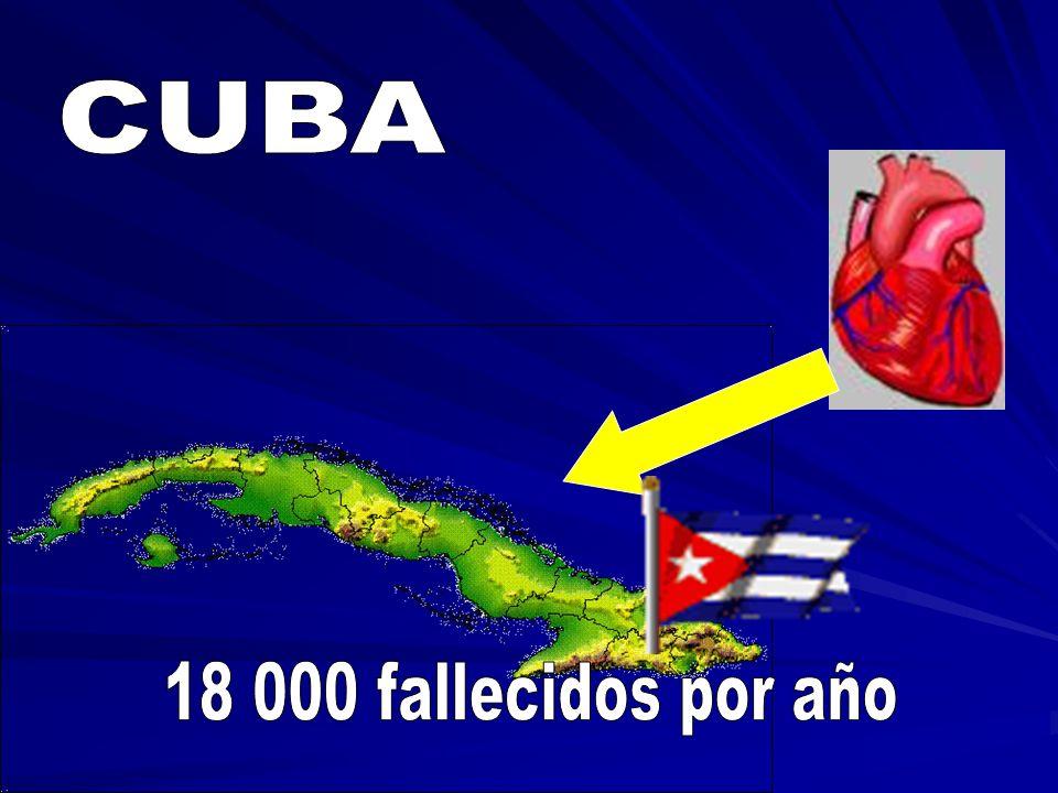 CUBA 18 000 fallecidos por año