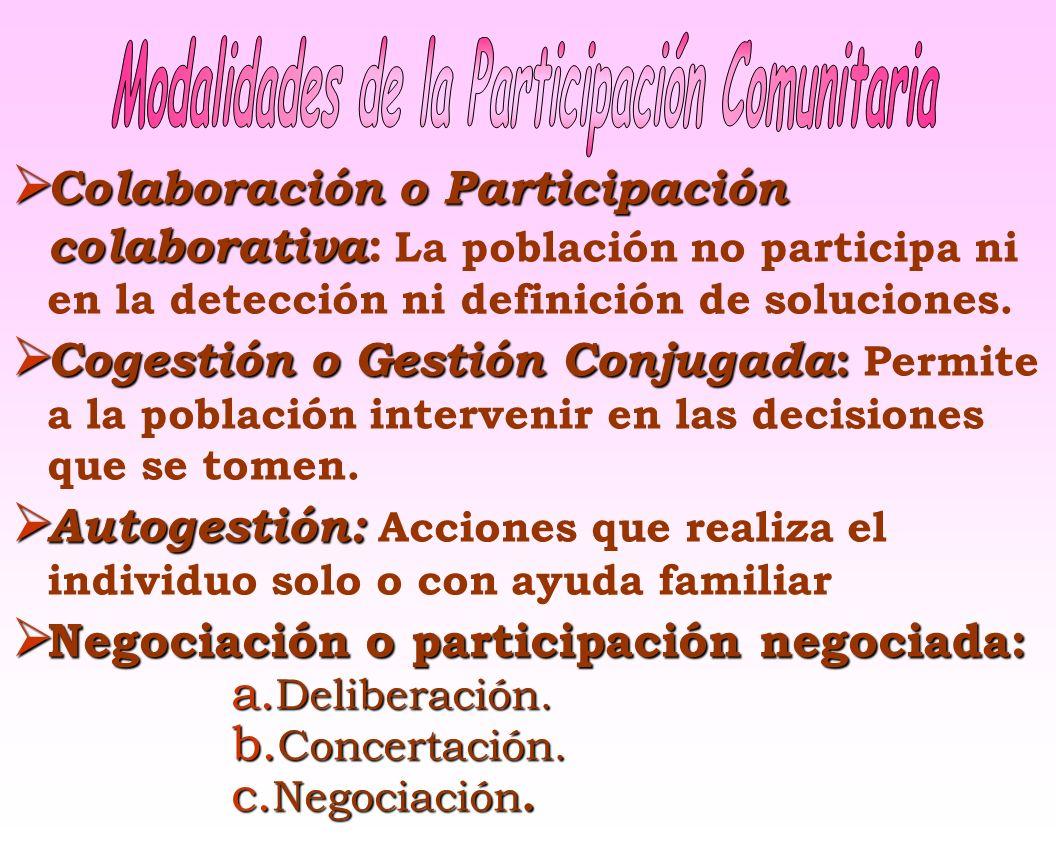 Modalidades de la Participación Comunitaria