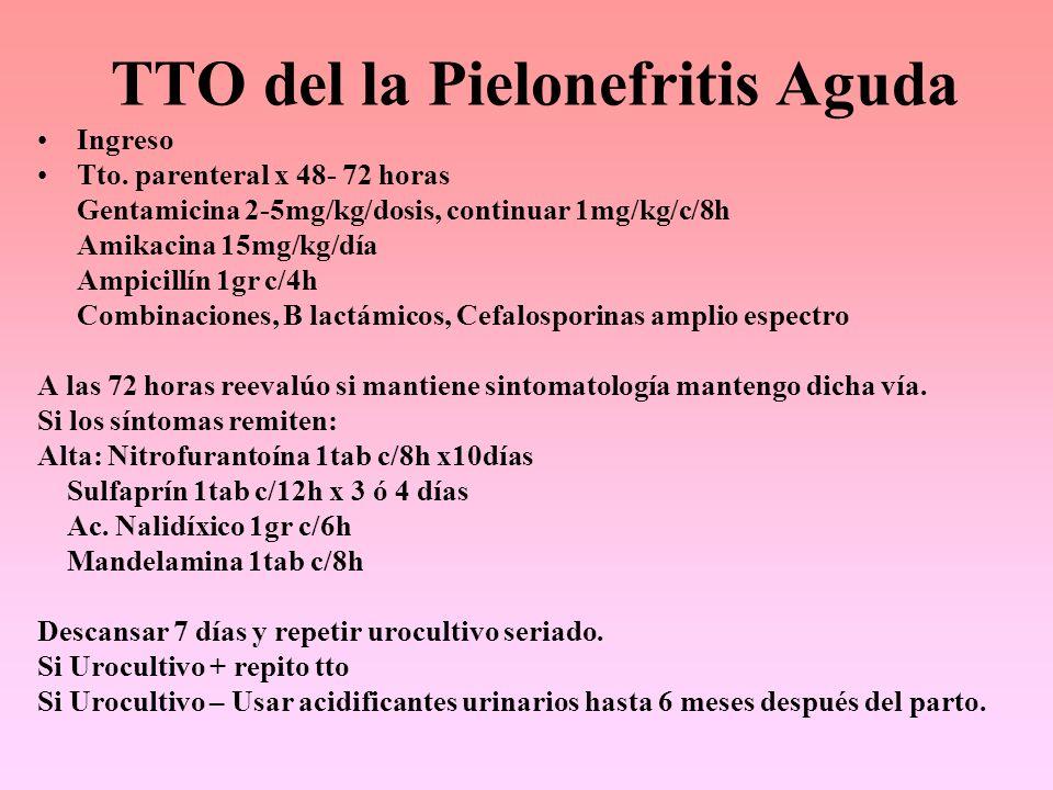 TTO del la Pielonefritis Aguda
