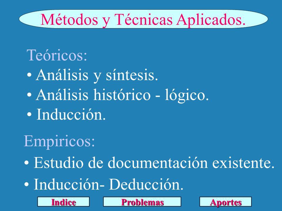 Métodos y Técnicas Aplicados.