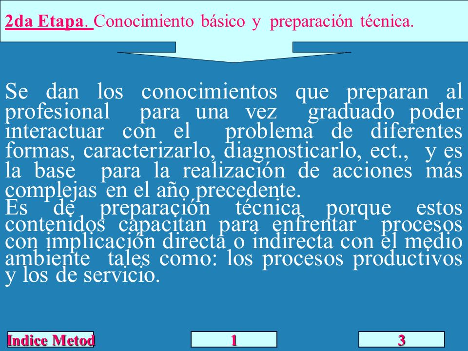 2da Etapa. Conocimiento básico y preparación técnica.