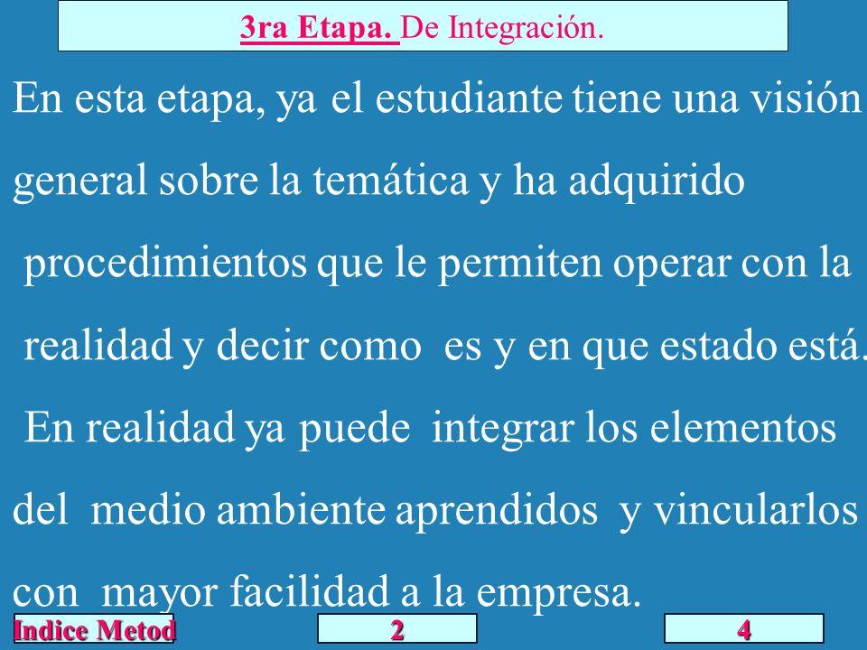 3ra Etapa. De Integración.