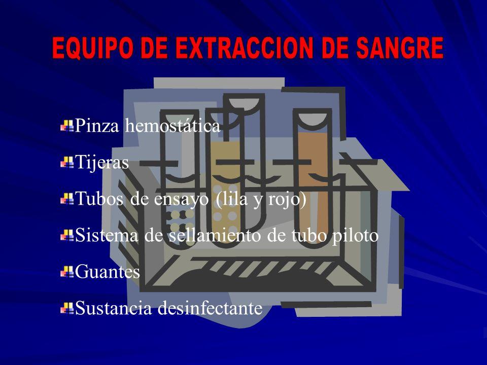 EQUIPO DE EXTRACCION DE SANGRE