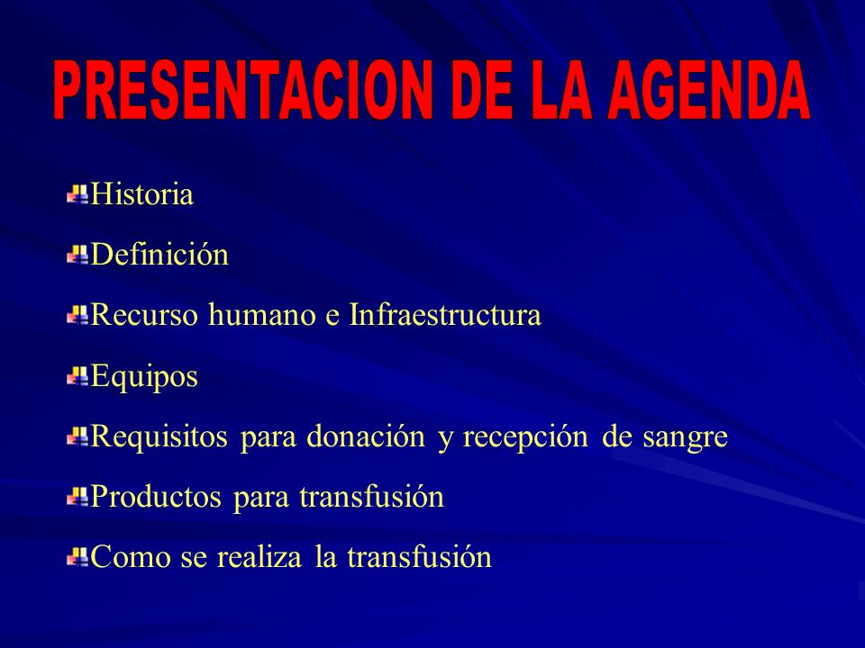 PRESENTACION DE LA AGENDA