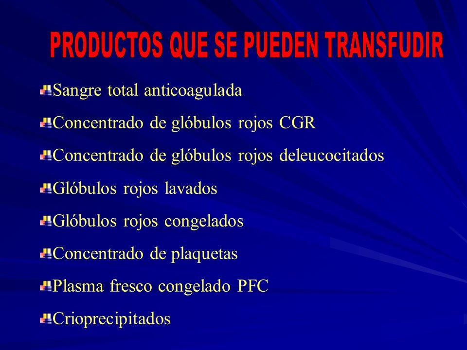 PRODUCTOS QUE SE PUEDEN TRANSFUDIR