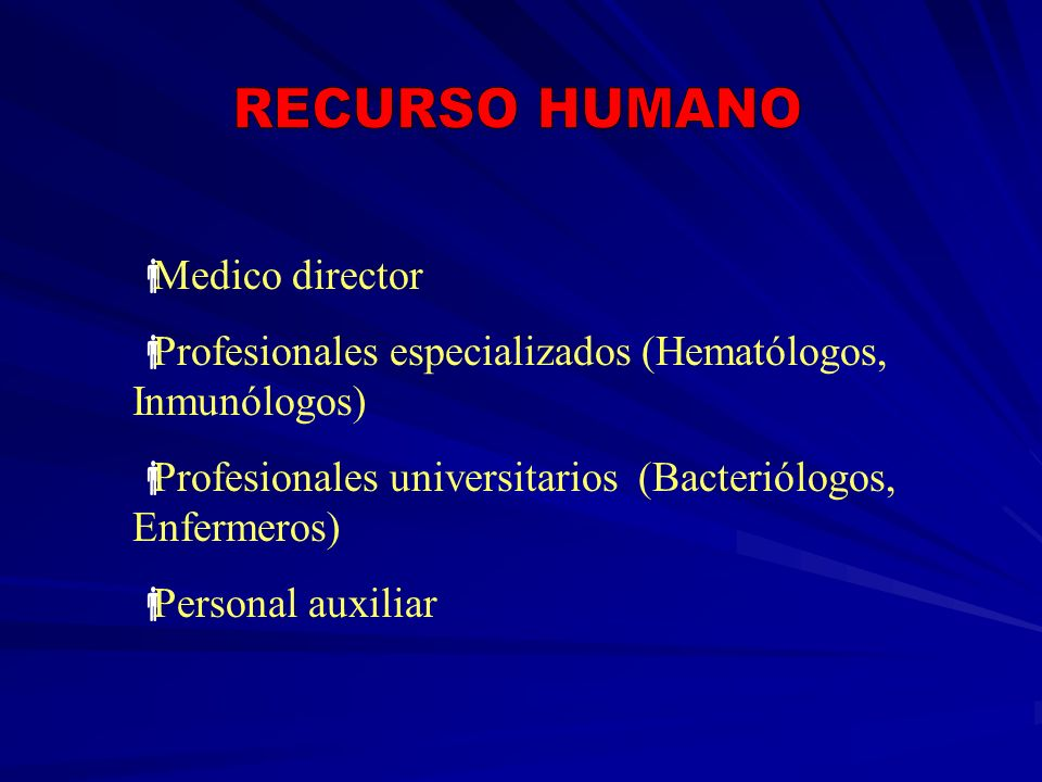RECURSO HUMANO Medico director