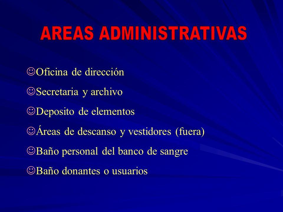 AREAS ADMINISTRATIVAS