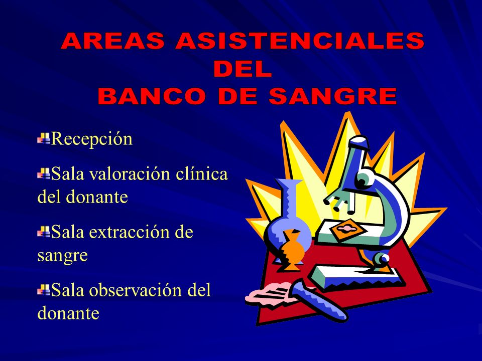 AREAS ASISTENCIALES DEL BANCO DE SANGRE Recepción