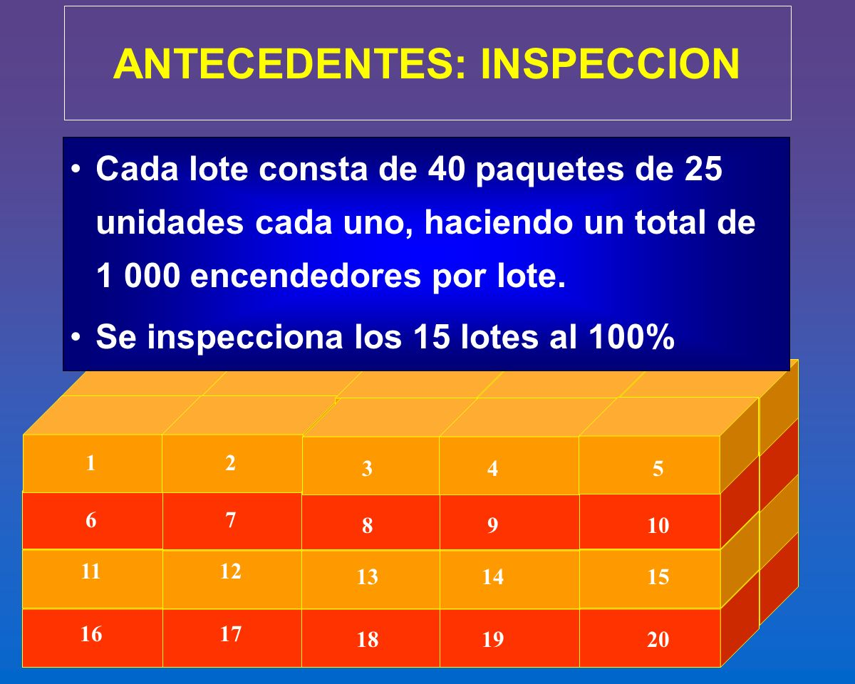 ANTECEDENTES: INSPECCION