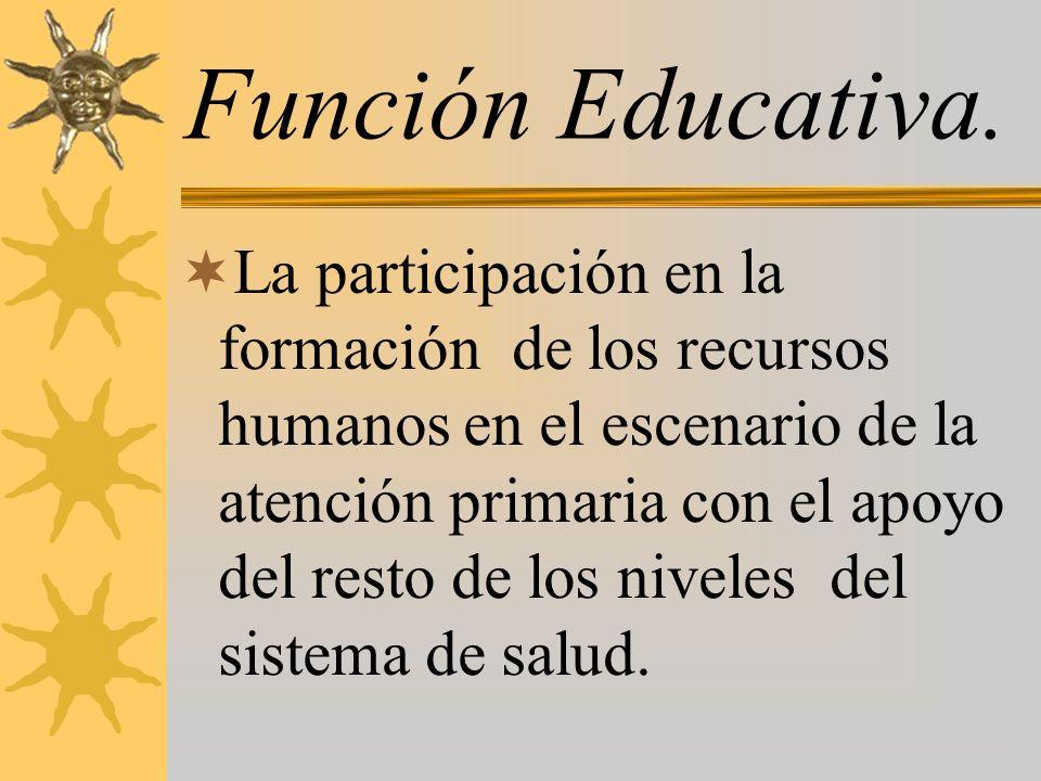 Función Educativa.