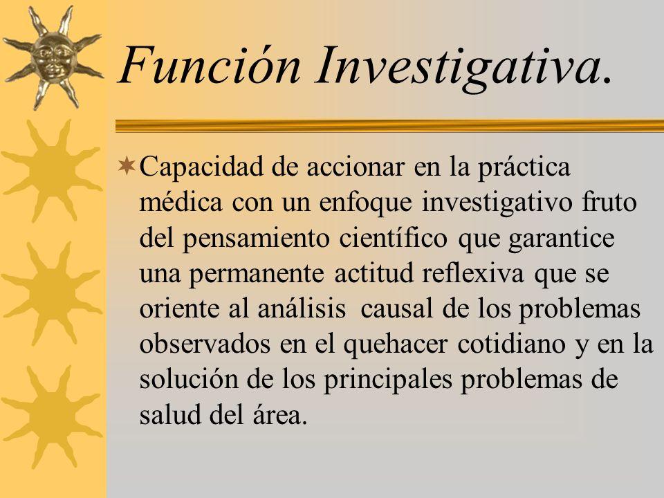 Función Investigativa.