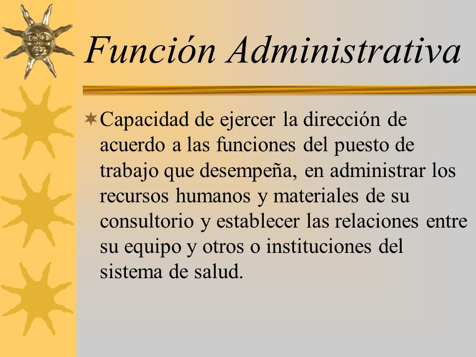 Función Administrativa