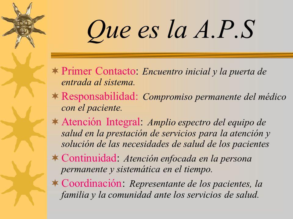 Que es la A.P.S Primer Contacto: Encuentro inicial y la puerta de entrada al sistema.