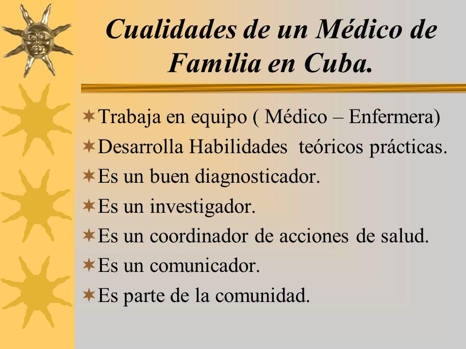 Cualidades de un Médico de Familia en Cuba.